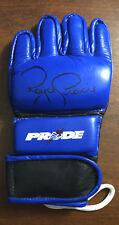 Royce Gracie Signed PRIDE FC Replica Fight Glove   Autograph UFC Red Bolt