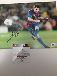 LIONEL MESSI BARCELONA SIGNED AUTHENTIC AUTOGRAPH WITH COA