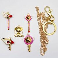 A Set Anime CARDCAPTOR SAKURA Necklace&Keychain Cute Pendant IN BOX Card Captor