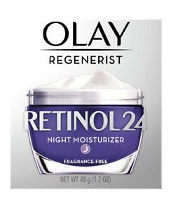 Olay Regenerist Retinol 24 Night Moisturizer (Fragrance-Free) 1.7 oz New