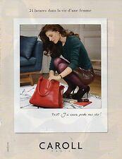 Publicité Advertising 2012  CAROLL  pret à porter collection mode accessoires
