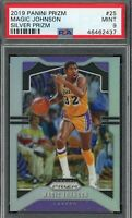 Magic Johnson 2019 Panini Silver Prizm Basketball Card #25 Graded PSA 9 MINT