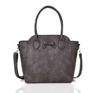 Damentasche  Handtasche  Schultertasche  Umhängetasche Tasche  Fb. Grau   511