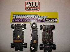 Auto World ~ 3 NEW Thunder-Jet Ultra G Chassis ~ FITS Aurora , AW, JL Bodies