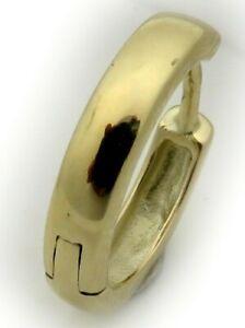 Herren Ohrring Single Klapp Creole echt Gold 585 schwer 12 mm Gelbgold 14 karat