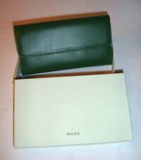 ROLEX Vip New Women Purse Wallet Green Leather Collectors Rare