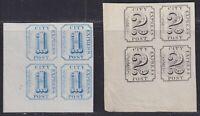(Adam's) City Express Post, 2L3 and 2L4 reprints blocks of 4. Lyons CV $24.00.