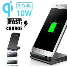 10W QI Wireless Fast Charger Schnell Ladegerät Halter Ständer für iPhone 8 / X