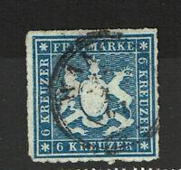 Wurttemberg SC# 43, Used, minor diagonal crease - S8692