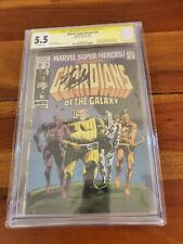Marvel Super Heroes #18 CGC 5.5 Signed By Stan Lee 1st Guardians 1969