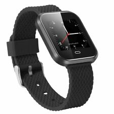 BLACK  Bluetooth 4.0 Smart Watch Waterproof Heartrate Wristband for IOS Android