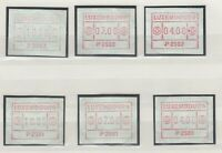 Luxembourg 1983/84 Frama Label Collection Of 6 MNH J9855