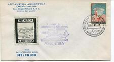 1969 Antartida Argentina Capana General San Martin Melchor Polar Antarctic Cover