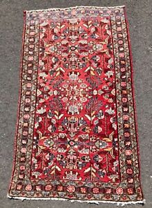 Beautiful Vintage Hand Woven Wool Oriental Rug