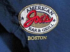 Vintage ~ LEE ~ Joe's American Bar & Grill BOSTON Pullover Windbreak LARGE Blue