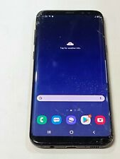 New listing Samsung Galaxy S8+ Sm-G955W 64Gb, Black, Unlocked, Glass/BackDoor Cracked :Aa128