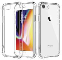 For Apple iPhone 7 8 Case Clear Hybrid Slim Shockproof TPU Hybrid Bumper Cover