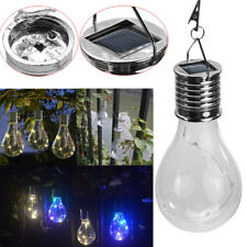 1XSolar Rotatable Outdoor Camping Hanging LED Light Lamp Bulb Waterproof Garden