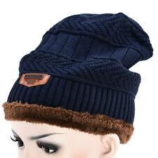 Unisex Men Women Camping Hat Winter Beanie Baggy Warm Wool Ski Cap Fleece Line H
