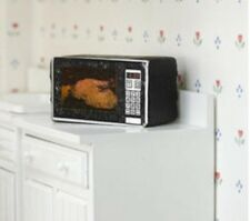 Miniature dolls house accessories Black Microwave Oven 1:12th scale size