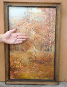 Original  Ukrainian Oil painting on canvas impressionism Landscape  1997 signed