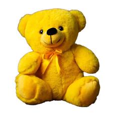 "9"" Yellow Plush Teddy Bear Stuffed Animal Toy Gift New"