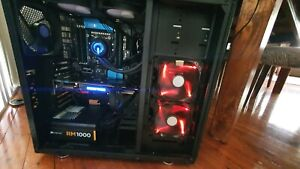 i7 6 Core gaming PC Computer 32GB DDR4 RAM 250GB SSD 1.5TB HDD CPU Liquid cooler