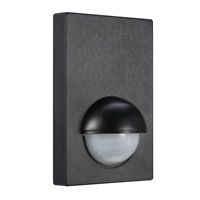 Wall Mounted PIR Sensor Black Infrared Motion Sensor 180 degree Outdoor Indoor