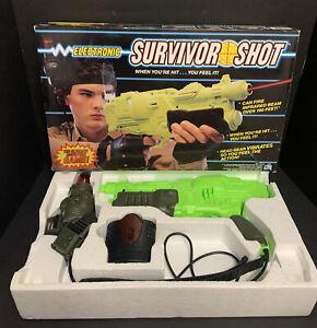 Electronic Survivor Shot Laser Tag Gun Game Practice Target Box Tested Hasbro
