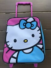Sanrio Hello Kitty Rolling Children's Suitcase Pink, Black, Blue And White