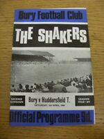 05/04/1969 Bury v Huddersfield Town  (Light Crease). Thanks for viewing this ite