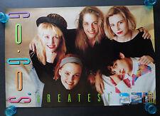 THE GO-GO'S  -  GREATEST  -  ORIGINAL  ROCK PROMO POSTER  (1990)