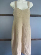 Banana Repubic Dress Shimmery Metallic Gold Empire Jumper Layer Piece Sz 8 Lined