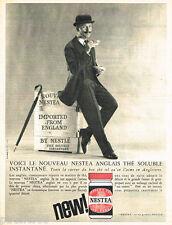 PUBLICITE ADVERTISING 085  1962  NESTEA  de NESTLE  thé soluble