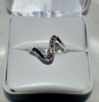 GLAMOROUS 1/3 ct.  NATURAL  GENUINE AFRICAN RUBY .925 STERLING  SILVER RING