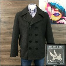 Spiewak & Sons Men's Double Breasted Heavy Wool Pea Coat Jacket Size XL