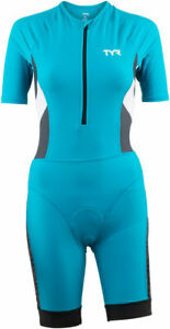 TYR Competitor Speedsuit - Turquoise/Grey, Women's, X-Large