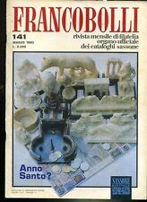 Rivista dei Francobolli Sassone 1983   n° 141 Anno Santo
