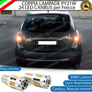 COPPIA LAMPADE PY21W BAU15S CANBUS 24 LED LANCIA YPSILON 843 FRECCE POSTERIORI
