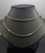 """30"""" Box Rolo Chain 2mm A9B6 In 10K Yellow Gold Palm,Rope,Franco,Cuben"""
