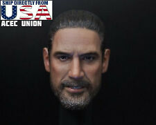 1/6 The Walking Dead NEGAN Head Sculpt Jeffrey Morgan For Hot Toys Male Body USA