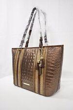 NWT Brahmin Medium Asher Leather Tote/Shoulder Bag in Patina Dorati Tri-Texture