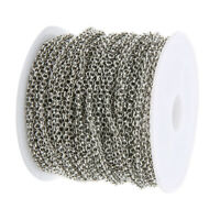 10 Yards O Shape Iron Jewelry Making Chain for DIY Necklace Bracelet,2mm