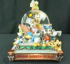 Disney Minnie Mouse Silver Screen Debut Musical Lights Snowglobe