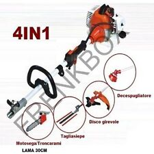 Trimmer 4 n 1: Hedge trimmer, chainsaw loppers, disc swivel lawnmower