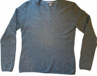 Cashmere by Charter Club Women's Size XS 100% Cashmere V-Neck Char Gray Sweater