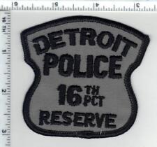 Detroit Police (Michigan) 16th Precinct Reserve Shoulder Patch - new 1980's