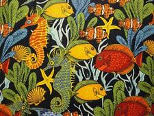 Colorful Fish On Blue B/G by Blank Quilting-BTY-Underwater-Plants-Sea