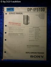 Sony Service Manual DP IF5100 Digital Surround Processor  (#6473)
