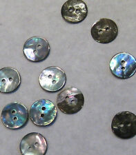 15 x Mother Of Pearl Sewing Needlework Blue Buttons 14mm